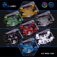 Bykski Water Cooled Transparent Acrylic CPU Water Cooling Block 0 3MM Microcutting Micro Waterway For AMD