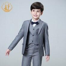 Nimble 5pcs/Set Boys Suits For Weddings Kids Prom Suits Wedding Suits Kids Blazers Boys Clothing Set Boy Formal Classic Costume