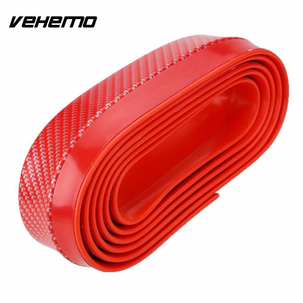 Vehemo Универсальный Авто углеродное волокно передний бампер разветвитель спойлер протектор