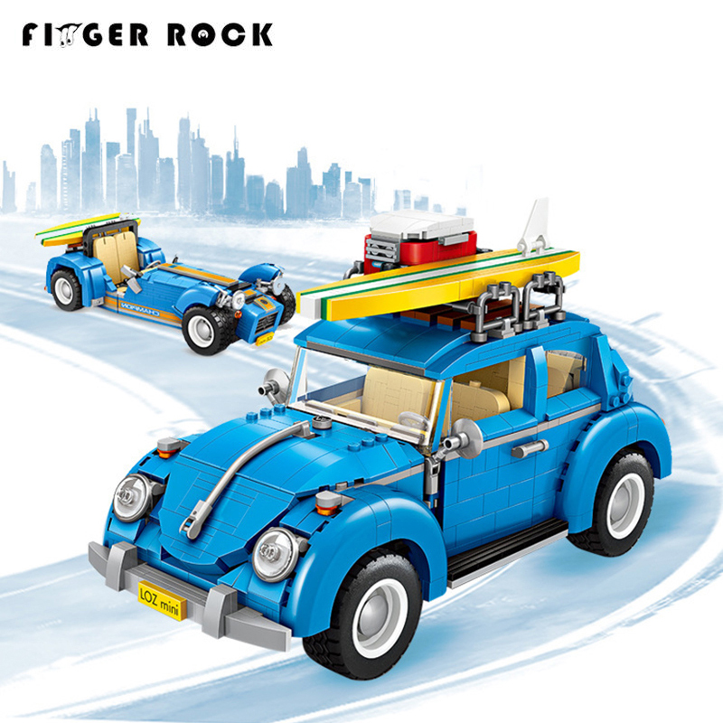 1114 VW Vehicle Beetle Mini Model Building Blocks Racing Car 2 In 1 Compatible Brand Creator 10252 Technic Toys For Kids