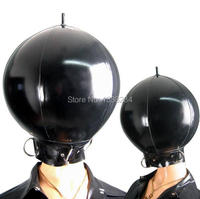 Latex Mask Inflatable Latex Ball Hood Latex Cosplay Inflatable Mask Halloween Mask with D ring