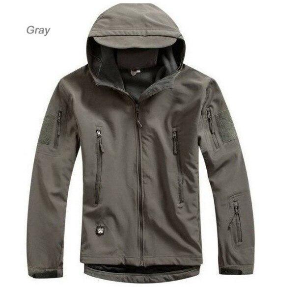 Hommes haut de gamme imperméable à l'eau col rabattu veste tactique furtif à capuche doux veste TAD Sharkskin veste armée vêtements vêtements