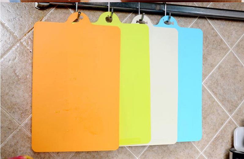 Utensílios de cozinha cozinha flexível de plástico placa de corte de alimentos fatia corte bloco de desbastamento