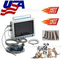 FDA CMS8000VET Vital Sign ICU 6 Parameter Patient Monitor, Veterinary, USA Sale