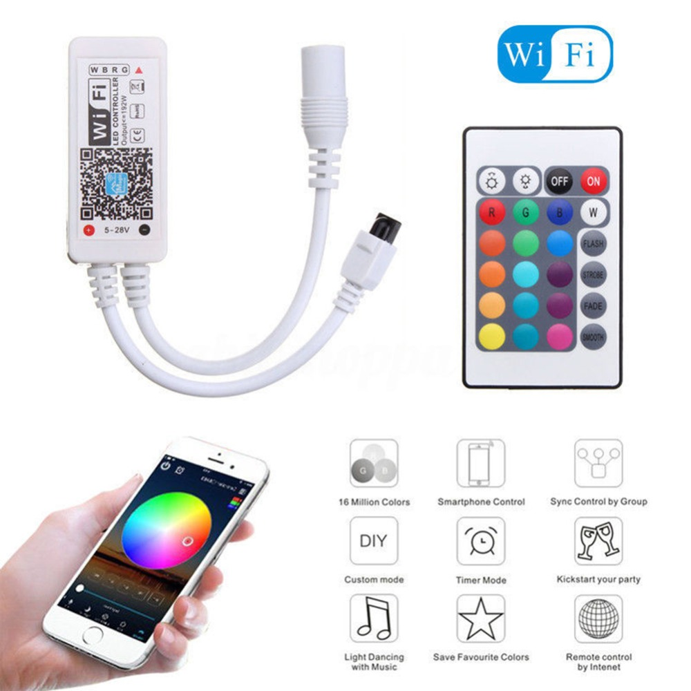 Lights & Lighting Self-Conscious Practical Mini Wifi Rgb Led/rgbw Strip Controller Music Controller By Amazon Google Home Phone Wifi Controller For Strip Light