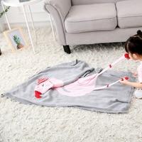 Flamingos Knitting Baby Blanket Infant Knitted Blankets Children Super Soft Stroller Cover Toddler Bedding Blanket Best Gifts