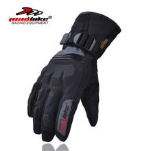 Madbike guantes hombres llenos del dedo guantes de moto de invierno luva luvas para ciclismo moto guantes de moto impermeable negro