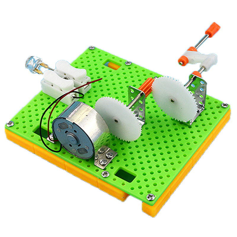 1set DIY Science Gizmo Hand Crank Generator Kids Puzzle Assembled Kits Simple Physics Experiment Teaching Resources