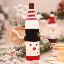 DIY Xmas Wine Bottle Cover Decor Foreign Trade Explosions Christmas Set  Champagne Red Wine Wine Set Hotel Restaurant Holiday dbfa52d41d9d3