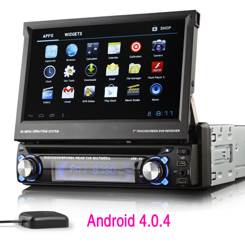 7 android 1 din car dvd player 3g wifi gps navigation free. Black Bedroom Furniture Sets. Home Design Ideas