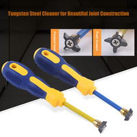 Newest 1pcs 4 in 1 Crack cleaning Cone Tungsten Steel Seam Cleaner Wiping Heads|Chisel| |  -