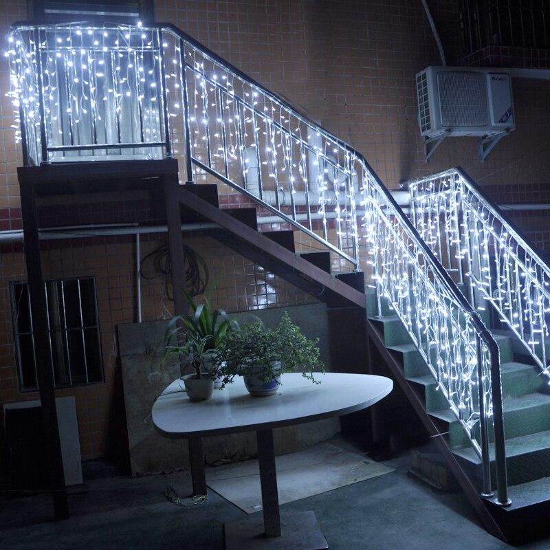 4M Anslutbar droppe 0,3-0,6m ledde julen icicle fairy gardin ljus - Festlig belysning - Foto 5