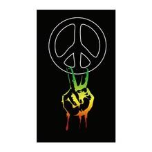 Peace symbols / peace fingers / peace Graffiti  Flag 3*5 ft 90*150 cm 100 d polyester Flying peace processes