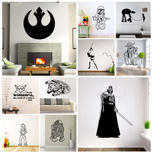 STAR WARS Stormtrooper Darth Vader Vinyl Wall Stickers Cartoon Vinyl Wall Sticker for Kids Room Bedroom Home Decor(China)