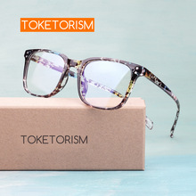 Toketorism tr90 glasses retro eyewear blue light lenses for computer lightweight spectacle frames woman man 5205