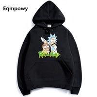 2017 Autumn Hip Hop Hoodies Men Fashion Cool Rick Morty Brand Pullover Printing Turtleneck Sportswear Sweatshirt