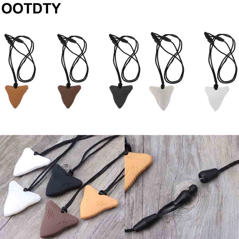 White Shark Tooth Silicone Teething Necklace for Teething Babies and Kids