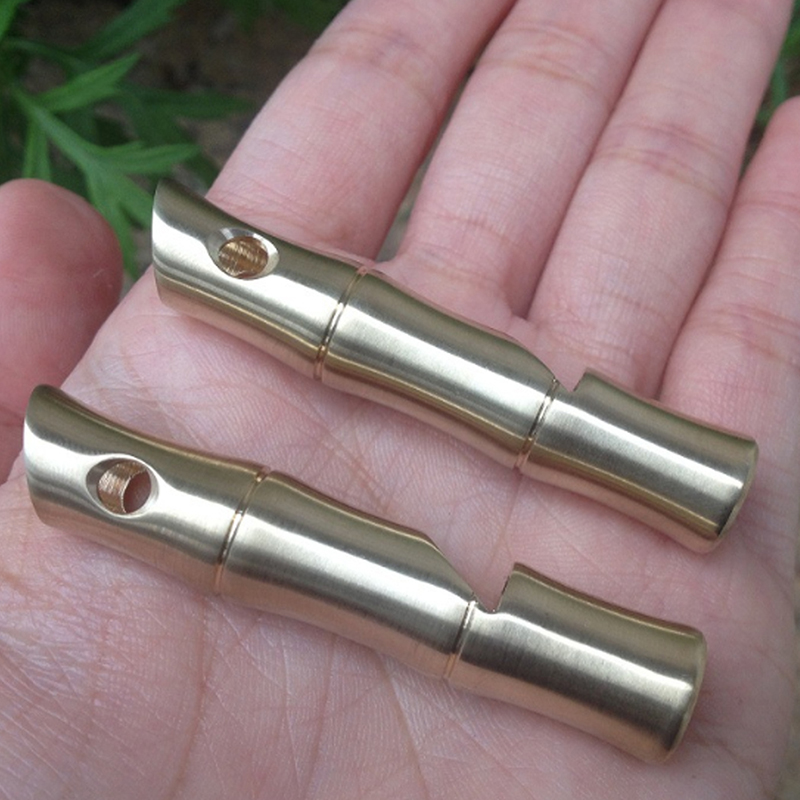 1 Pcs Mini Handmade Brass Metal Whistle EDC Tools Outdoor Sports Camping Emergency Whistling Self  Defense Survival Alarm