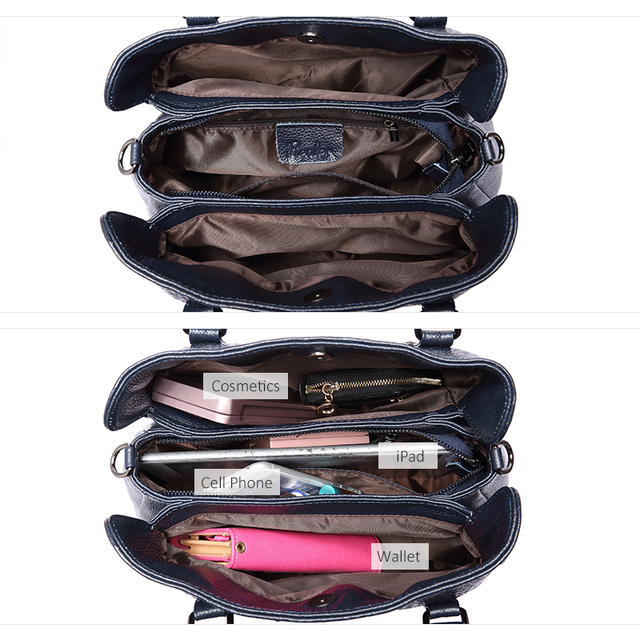 REALER luxury handbags women genuine leather crossbody messenger bags female tote high quality crocodile print ladies top-handle 4