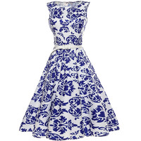 Fenghua Audrey Hepburn Floral Print Ball Gown Party Dress Women Summer Dresses 2017 Sexy Elegant Vintage