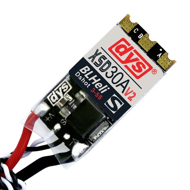 High Quality DYS XSD 30A 3-5S ESC V2 BLHeli_S Supports Dshot600 Dshot300 Speed Controller For High KV Motors For RC Multicopter