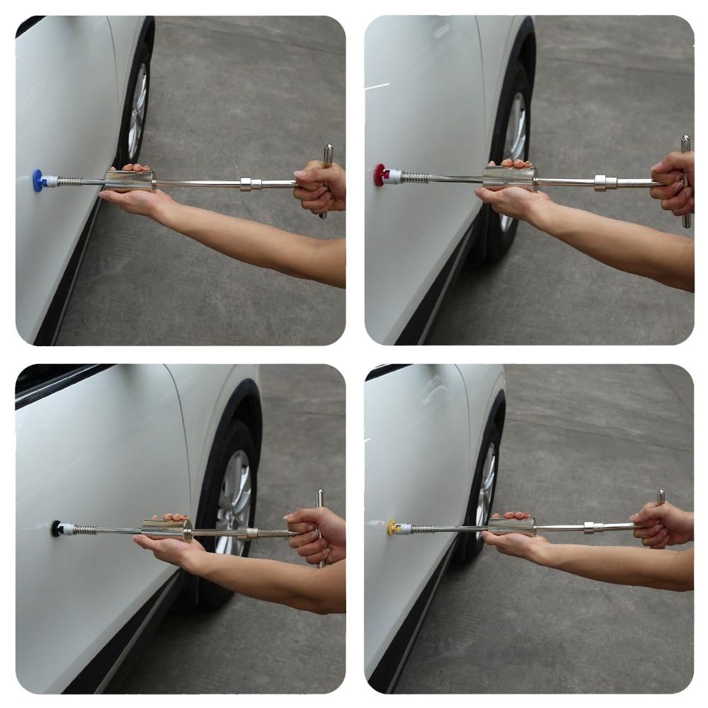 PDR įrankiai Grįžtamojo plaktuko dažymas be dažų Dent remonto - Įrankių komplektai - Nuotrauka 4