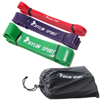 Resistance Band Set 4 Levels Available Latex Gym Strength Training Rubber Loops Bands Fitness CrossFit Equipment