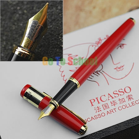 PICASSO 999 DOVE OF PEACE SERIES RED M NIB FOUNTAIN PEN WITH ORIGINAL BOX