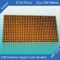 2 шт. / lot 320 * 160 мм 32 * 16 пикселей для текстовых сообщение из светодиодов знак P10 на открытом воздухе янтарь / желтый цвет светодиодный дисплей модуль