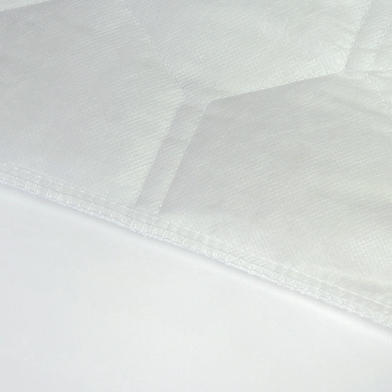 White Bed Protection Pad, Quilted Mattress Protector, Polyester Woven, Twin, Full, Queen, King 20