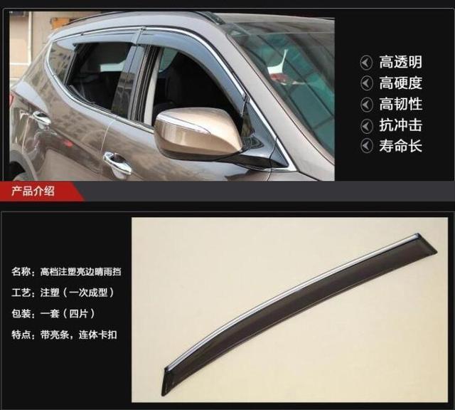 Nuevo Estilo de Mugen Visera de la Ventana de Ventilación Deflector Para El Mazda3 M3 4dr Sedan 04-09 2004 2005 2006 2007 2008 2009 Car styling