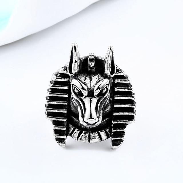 Pharaoh Anubis Ring