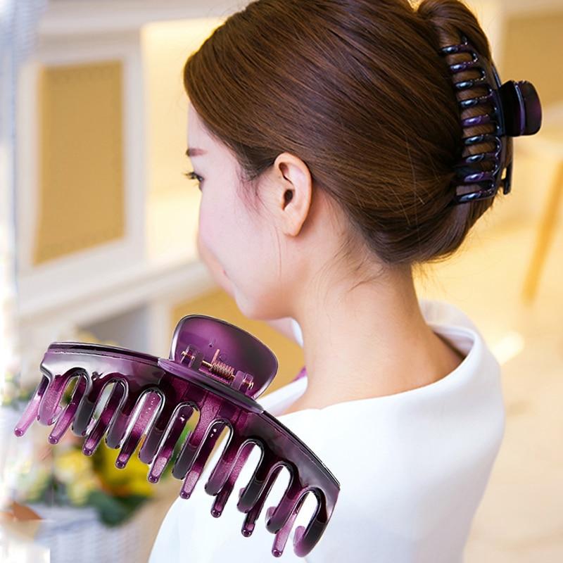 Women   headwear   Large hair claw korean hair clips for shower room vintage hair accessories for women