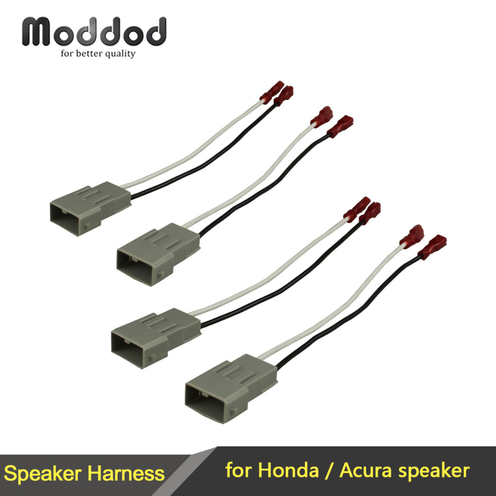 For Honda Speaker Wire Harness Connects Aftermarket To Oem Adapter 94 Acura Legend Wiring 2x Pairs Plug Set Connector