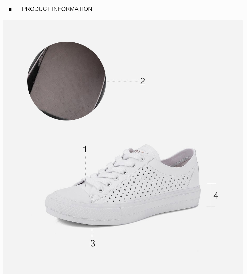 Donna-in 2019 New Women Flats Sneakers Genuine Leather Shoes Lace-up Cut-outs Flat Casual Women Shoes Hollow Summer Black White (7)