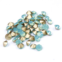 Crystal Glass Stones Ss11 5 Ss25 Green Opal Color Pointback Rhinestones Stick Drill 3D Nails Art