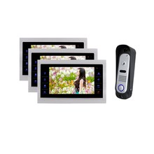 Homefong 10 Inch  Video Door Phone Doorbell LCD Monitor  IR Camera Night View SD card (Not Included) 1V3
