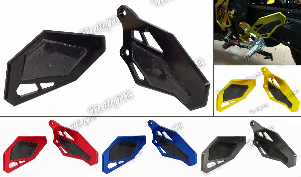 Motorcycle Carbon Fiber Rearset Rear Sets Footrests Heel Guard Plate For Yamaha YZF R3 R25 2014