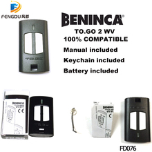 купить 5pcs Free Shipping 100% compatible BENINCA TOGO 2 WV remote Control 433,92Mhz rolling code Beninca transmitter по цене 2375.86 рублей