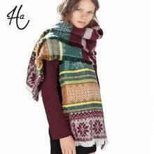 za women winter scarfs 2015 Plaid Cashmere Scarves New Designer Unisex Acrylic Basic Shawls Women's Scarves Big Size