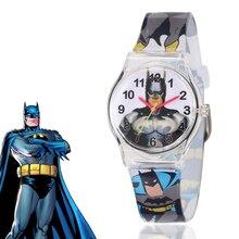 Montre Enfant Transparent Soft Silicone Batman Kids Watches