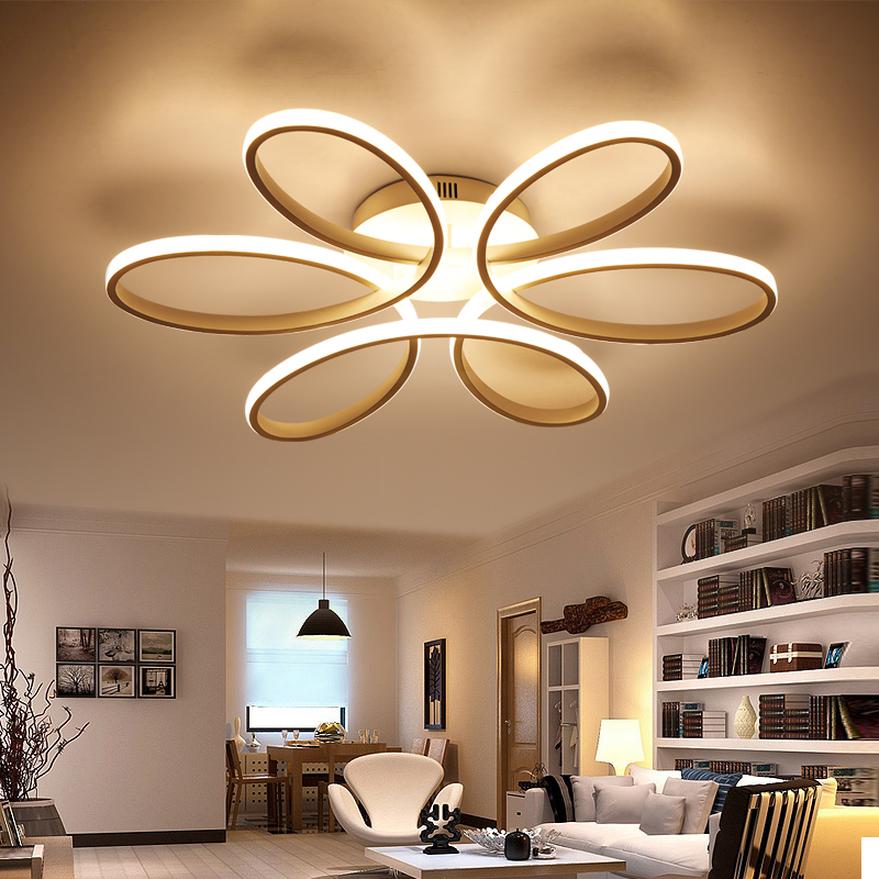 acrylic flush ceiling lights white light frame home decorati