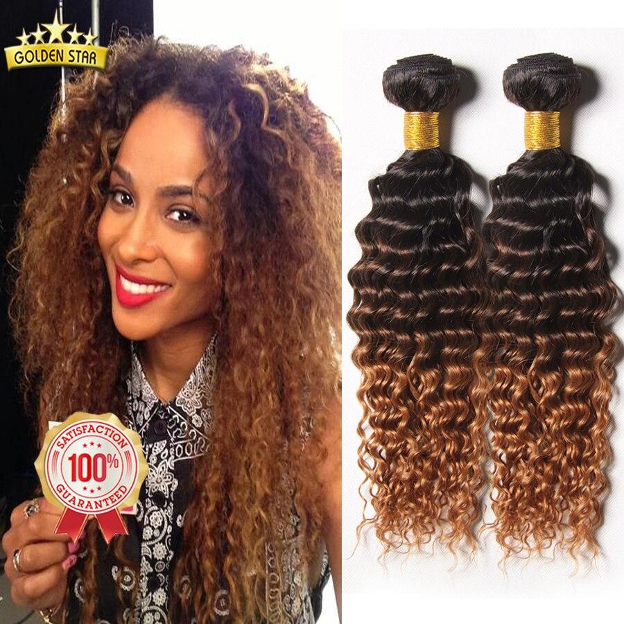 8a Deep Wave Brazilian Hair Deep Wave Ombre Human Hair Weave