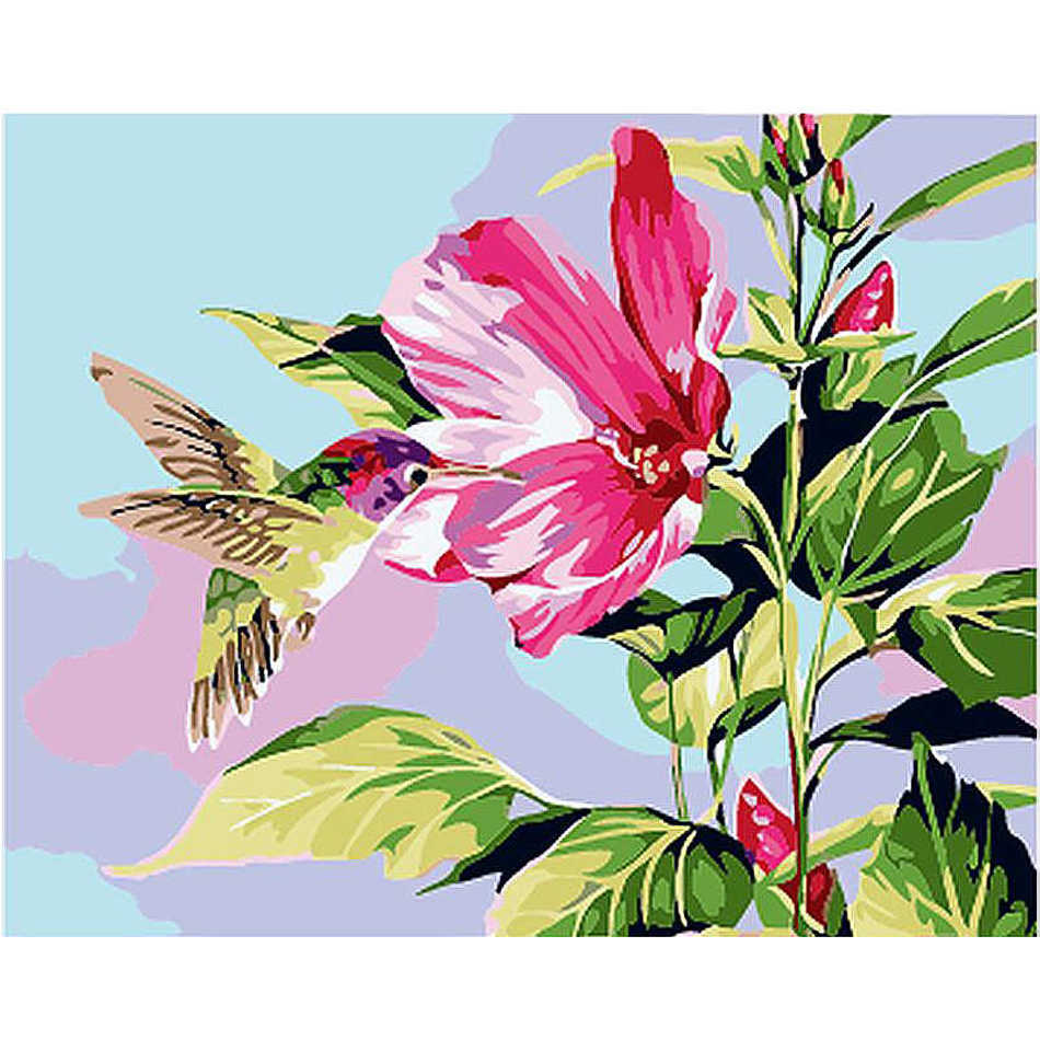 WEEN Bird And Flower-Framed Wall Pictures, DIY Oil Painting By Numbers, Oil Canvas Paintings Home Decor For Living Room 40x50cm