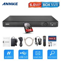 ANNKE 8CH 6 0MP POE NVR Network Video Recorder For Security Network IP Camera 1080P 3MP