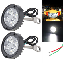 Motorcycle Headlight  Accessories Universal 2pcs 12V Super Bright LED Spotlight Flasher wholesale