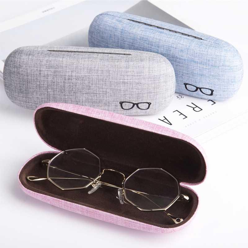 Hoomall 1 PC Caso Estilo Fresco Óculos de Leitura Caixa de óculos de Sol Caso de Linho Retro Rígidos Óculos Shell Duro Protector