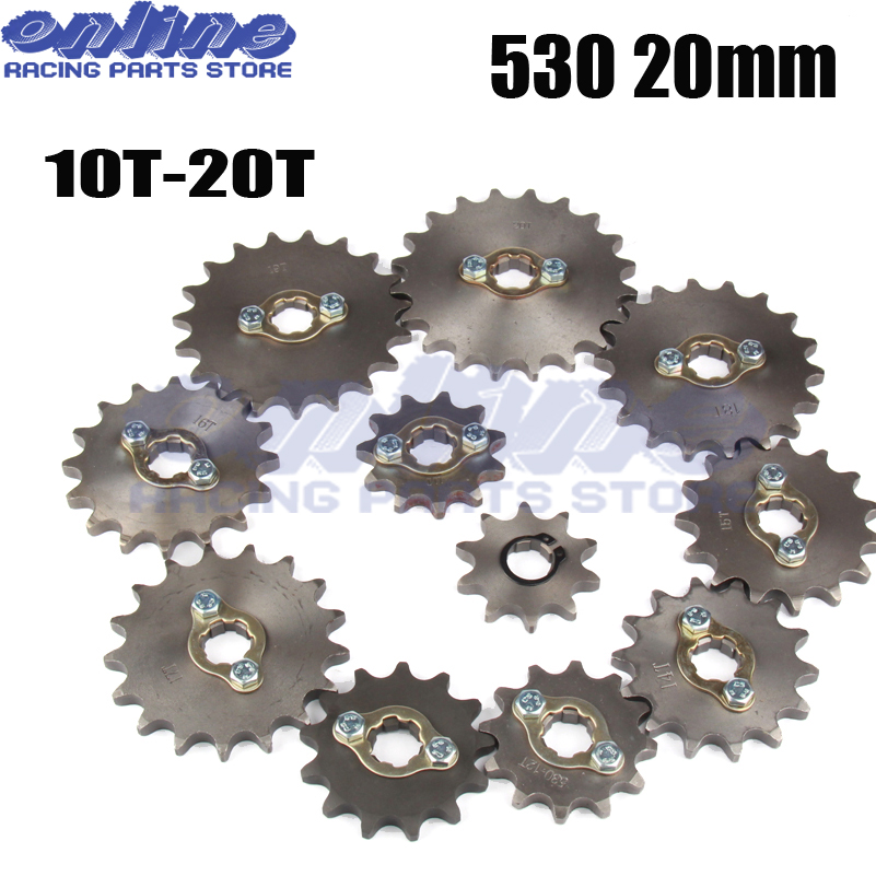 Front Engine Sprocket Star #530 10T-20T 12 13 Teeth 20mm For 530 Chain With Locker Motorcycle Dirt Bike PitBike ATV Quad Parts image