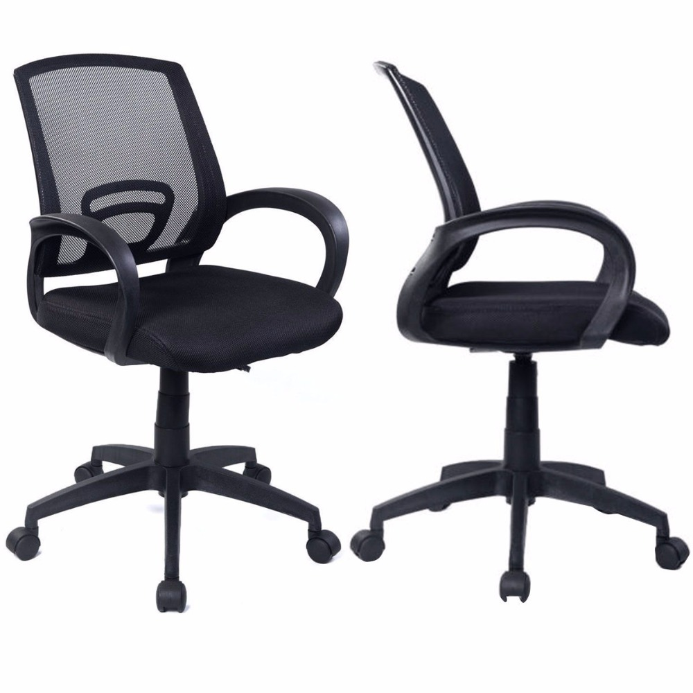 Sets of 2 Ergonomic Mesh Computer Office Chair Desk Task Midback Task Black New 	2*CB10061 exploring of computer fundamentals and office automation