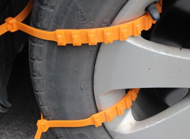 10 pcs universel facile utiliser cha nes neige pneus pour voitures le patinage des roues. Black Bedroom Furniture Sets. Home Design Ideas